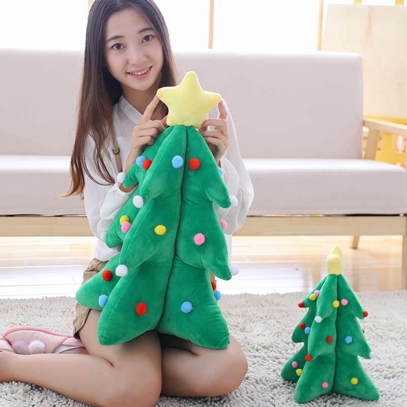 35/55 cm Plush Christmas Tree Soft Cushion Toy For Children