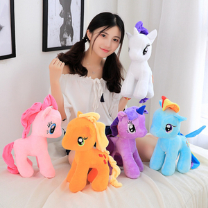 6 Pcs A Lot Adorable Little Pony Plush Toy Cartoon Pony Unicorn Toys For Children & Fans Gift