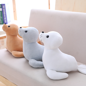 35 cm Stuffed Sea Lion Plush Toy Soft Pillow Cute Cartoon Animal Seal Toy Cushion Doll for Kids Children's Gift
