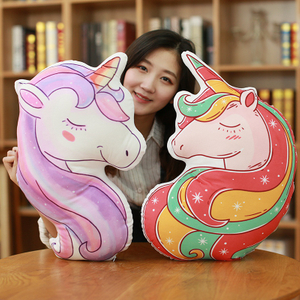 Lovely Unicorn Plush Pillow Cushion Stuffed Unicorn Plush Toys For Home Decoration Sofa &Chair Wholesale Drop Shipping