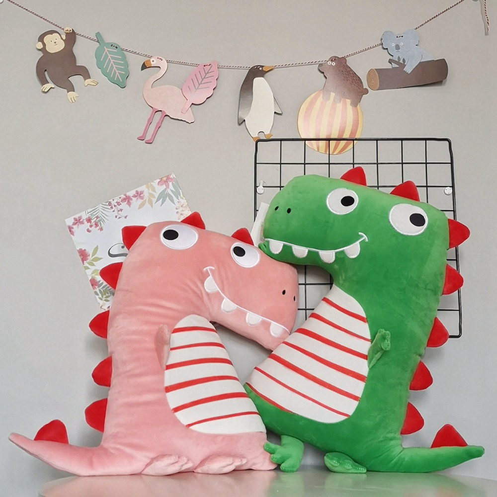 60/100 cm Ins Hottest Plump Dinosaur Plush Toy Stuffed Jurassic Animal Toys for Children New Born Baby Gift
