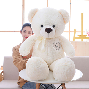 85/105 cm Big Size Soft Love Wearing Bear Plush Toys Stuffed Plush Animals Soft Bear Toy For Valentine's Day