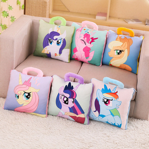 Adorable Plush Toy Cartoon Pony Unicorn Pillow Cushion Open As Summer Carpet Toys For Children & Fans Gift