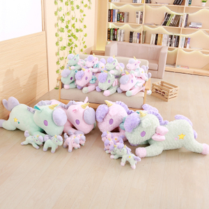 Wholesale Drop Shipping 23-85 cm Beanie Boo Curly & Straight Plush Unicorn Pillow Stuffed Animal Plush Toys Brand For Children