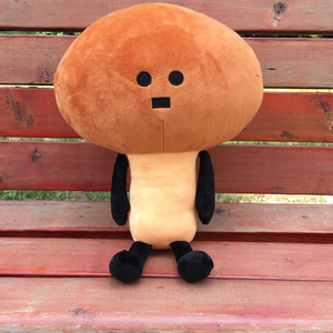 Plush Downhearted Japanese Mameko Toy Pillow 45/65 cm Stuffed Plant Mushroom Toy For Children Bedroom Decoration Bed Toy