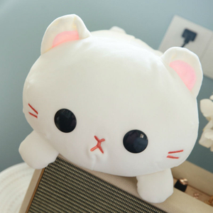 35/45cm Soft Cat Plush Toy Pillow Stuffed Animal Kitty Toy Sofa Cushion Bed Toys Children Gift Or Bedroom Decoration