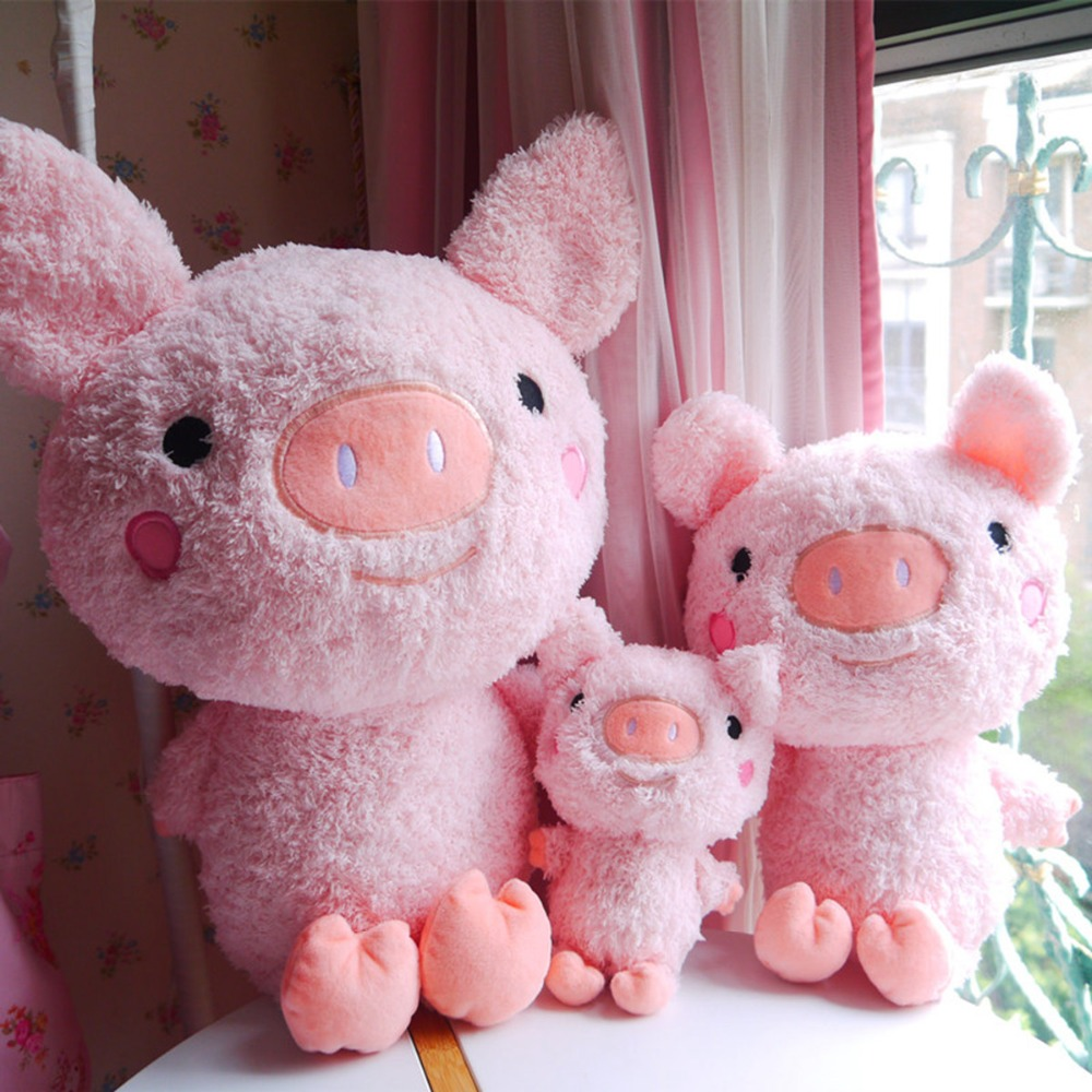 24/45/58 cm Soft Pink Pig Plush Toy Soft Stuffed Cute Animal Pig Lovely Dolls For Kids Appease Toy Baby's Room Decoration