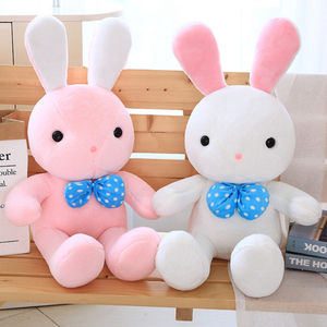 40/60/80 cm Soft Rabbit Plush Toy Stuffed Animal Bunny Rabbit Plush Soft Placating Toys Brand For Children's Bed Toy