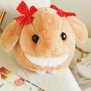 Soft Rabbit Lop Plush Toy 30/40 cm Stuffed Animal Rabbit With Little Bowknot Toy for Children's Day Gift Or Bedroom Decoration