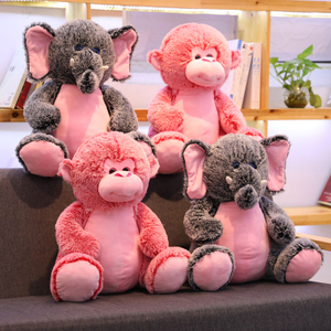 50 cm Stuffed Animal Elephant Monkey Plush Toy Baby Appease Placating Toys For Children
