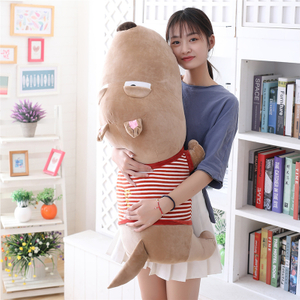 60/80/120 cm Soft Duull Dog Plush Toy Plump Body Adorable Sleepy Dog Cushion Stuffed Doll Pillow For Kids Or Lover's Gift