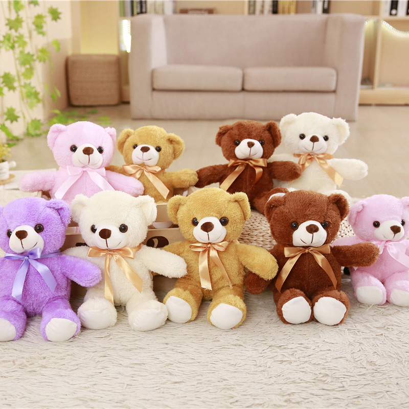 Wholesale 5 Pieces A Lot 30/35 cm Soft Plush Bears Plush Toy Stuffed Animal Teddy bear Bed Toy For Children's Gift