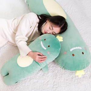 45/65/95cm Cartoon Dinosaur Long Stuffed Pillow Plush Toy