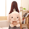 50 cm Soft Rabbit Backpack Shoulder Bag Plush Toy Stuffed Cute Rabbit Doll Dual Function Toys Gift for Teenager Girl