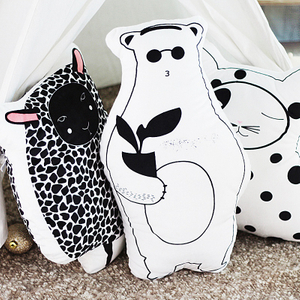 Cartoon Plush Cat Sheep Bear Double Side Printed Stuffed Animal Toy Cushion Pillow For Children Drop Shipping Available