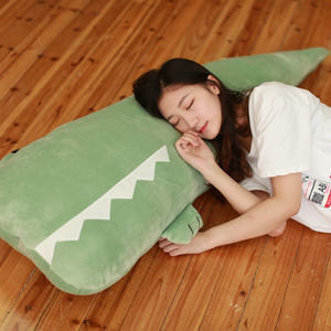 55/70/100 cm Soft Toy Plush Stuffed Animal Crocodile Alligator Cotton Pillow Cushion Plush Toy For Children Climbing Practice