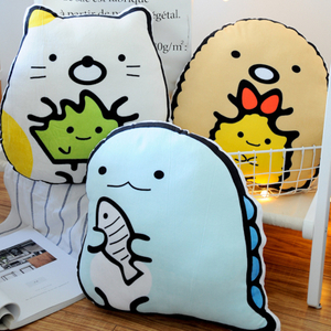 San-x Soft Toy Pillow Corner Bio Handheld Biological Soft Stuffed Plush Animal Toy Cartoon Cushion For Fans