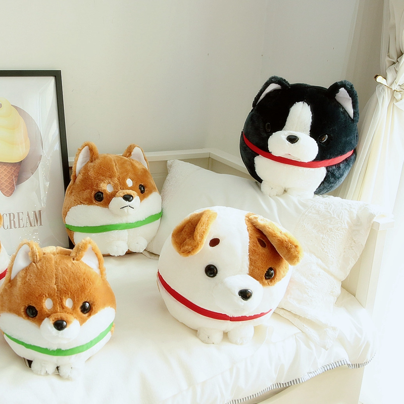 30/38cm Cute Soft Shiba Inu Dog Plush Plump Toy Jack Russel Dog Doll Animal Toy Dog Toys For Children Birthday Gift