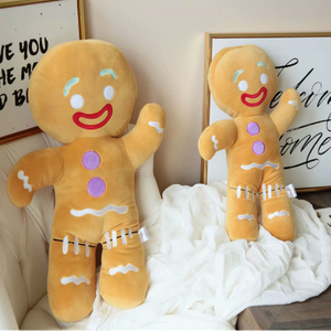 30/45/60 cm Stuffed Gingerbread Man Plush Toy Christmas Gift For Children