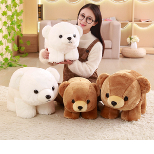 40/50 cm Plump Polar Bear & Grizzly Plush Toys Stuffed Plush Animals Soft Pillow Cushion Toy For Kids Dolls Children Gifts
