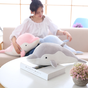 50/60/70 cm Soft Stuffed olphin Plush Toy Soft Pillow Cute Cartoon Ocean Animal Dolphin Cushion Doll for Kids Children's Gift