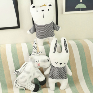 Cartoon Plush Unicorn Rabbit Bear Stuffed Animal Toy Cushion Pillow For Children Wholesale Drop Shipping Available